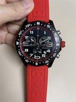 2021 novas chegadas relógio masculino cronômetro de quartzo relógios de aço inoxidável relógios negros homem cronógrafo relógio de pulso 48mm strap b18