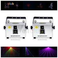 Effetti 2 PZ 3W RGB Animazione Full Color Ilda DJ Proiettore laser per club bar da sposa Stage Party Event Event Show Light