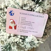 Fast delivery Christmas Gift Santa Greeting Cards 86*54mm Claus Funny Driver's License Card