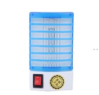 Mini LED night light type Socket Electric Mosquito Repellent Bug Insect Killer Trap Night Lamp Zapper 110 220v NHA6316