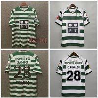 Retro Jerseys de futebol Sporting Ronaldo B.fernandes Phellype CP Lisboa Coates 03/04 Classic Dost Vintagemen Camisas de futebol 2003 2004