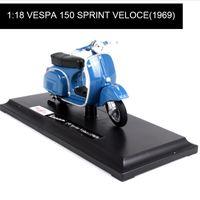 Maisto 118 Motorcycle Models VESPA Piaggio 1969 150 SPRINT VELOCE model bike Base Diecast Moto Children Toy For Gift Collection