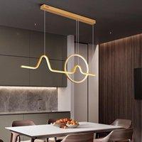 Chandeliers LED Creative Chandelier Aluminum Restaurant Modern Hanging Lamp Dining Room Coffee Shop Nordic Minimalism Pendant