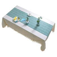 Table Cloth Checkered Tassel Tablecloth, Cotton Linen Tablecloth For Kitchen Decoration