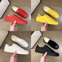 Ass geprägter Sneaker Brief Herren Freizeitschuh Weiß Balck Rot Gelb Grüner Ledergummi Sohle Italien Marke Luxurys Designer Schuhe