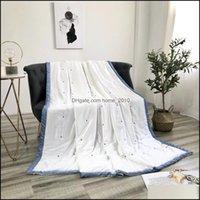 Steppdecken Sets Bettwäsche Liefert Textilien Home GardenAmerican Sommer Modal Tencel Quilted Quilt Comerer Wurf Duvet Queen Größe 200 * 230cm POI