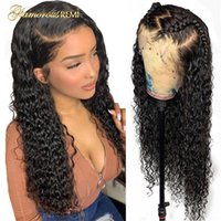 Lace Wigs Curly Front Wig Brazilian Kinky Human Hair Natural Color Deep Closure For Black Women