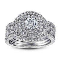Fashionable new 925 silver plated 18 K gold zircon diamond ring for women