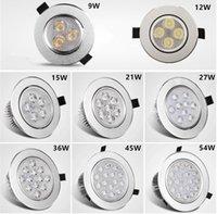 Downlight recuado 3W 4W 5W 7W 9W * 3W Luz do teto da luz do teto do teto do teto branco AC85-265V Painel esportivo interno
