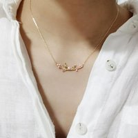 Chains Ins Ins Style Bird Branch Collana Donna 100% 925 Sterling Sterling Nacklace Gioielli Clavice Catena Catena Charms Charms regalo per le donne