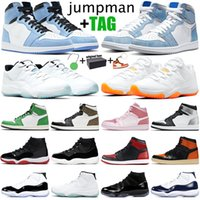 nike air jordan 1s 4s 11s retro 1 11 basketball shoes Zapatillas de baloncesto zapatillas de deporte para hombre jumpman 1s 1 11s 11 hombres mujeres zapatillas deportivas