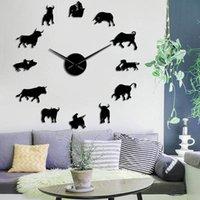 Настенные часы Божешь дизайнер DIY Большие часы Home Decor для гостиной бык всадник самоклеящийся зеркальный эффект наклейки наклейки