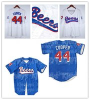 Mens Baseketball Biere Movie Jerseys 44 Joe Coop Cooper 17 Doug Remer Jersey genäht Hemden