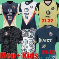 21 22 Club America Homw Away Green Fútbol Jerseys Pre Partido Formación Hombres + Niños Giovani Benedetti Black Tercero Portero Blanco 2021 2022 Camisetas de fútbol