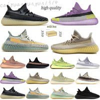 Adidas Yeezy BOOST 350 V2 Kanye West with box men women running shoes 2021 blue sand taupe reflective ash zebra tail light bred Black mens sports sneakers m33
