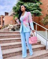 Women's Suits & Blazers 2021 Ins Internet Celebrity Famous Women Blazer Longsleeve Notched Tie Dye