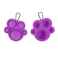 Push Bubble Keychain Kids Bears Paw Party Novel Fidget Keychains Simple Dimple Toy Pop Toys Key Holder Rings Bag Pendants Decompression Gifts