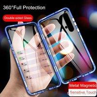 Магнитный чехол для Huawei Nova 5T 5 T Чехол с двусторонним закаленным стеклом Полный защитный чехол для Huawei Honor 20 HOOD20 H JLLXZR