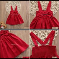 Girls Clothing Baby, Kids & Maternity Born Baby Girl Kid Red Bow Strap Dress Sundress Sweet Fashion Outfit Dresses 0-3 Year1 Drop Delivery 2
