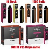 Hot I Gn TE V15 Dispositivo Dispositivo de Vagem Descartável E Cigarros 1500 Puffs 850mAh Bateria 5.1ml Cartucho Prefilado Vape Stick Pen vs Bang XXL
