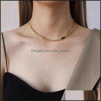 Chokers Necklaces & Pendants Jewelrychokers Black Green Gemstones Zirconia Gold Chain Bracelet Necklace Set For Woman Choker Fashion 316 L S