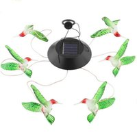 Solar Color Changing LED Birds Wind Chimes Home Garden Yard Decor Light Lamp Lights Chime Party Decoration