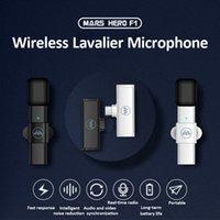 Draadloze Lavalier Microfoon Draagbare Audio Video Recording Mini Microfoon voor iPhone Android Type-C Live Broadcast Gaming Phone Microfonoe