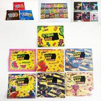 Patch Gummie Ecomes Empaques Bolsas de embalaje Infundido Uva Fresa Cereza 500mg Mylar Bolsa Cuncstom Impreso Impreso Paquete Candy En stock Trrlli Trolli
