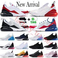 2021 Cuscino 270 factory_trainer Scarpe da corsa da uomo Platinum Jade Triple Black White Rainbow 270s Sport USA Photo Blue 27c Trainers Sneakers