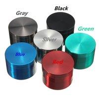 4 Layers Metal Tobacco Grinders Zinc Alloy Dry Herb Smoke Accessories Hemp Pepper Pot Spice Mill 40 50 55 63mm Mini Cute Grinder