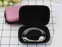 EVA Reißverschluss Ohrhörer Ohrhörer Hard Cases Box Tragen Aufbewahrungstaschen Taschen Tragbare PU-Abdeckungshalter für Karten USB-Kabel Stereo-Headset DDA5445