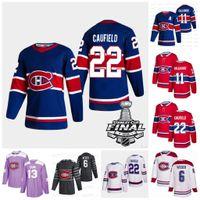 Donne Cole Caufield Montreal Canadiens 2021 Stanley Cup Maglia Final Jersey Carey Prezzo Staal Jesperi Kotkaniemi Allen Brendan Gallagher Gustafsson Roy Drouin Perry