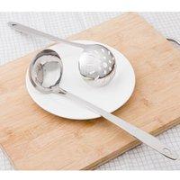 Spoons Stainless Steel Colander Soup Spoon Shell Filter Dessert Long Handle Strainer Skimmer Porridge Cooking Tools Dinnerware