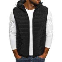 Men's Vests Tide Men Hoodie Waistcoat Autumn Winter Zipper Fashion Waistcoats Vest Top Bodywarmer Coat