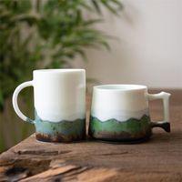 Cups & Saucers Jingdezhen Ceramic Kiln Change Landscape Teacup Porcelain Coffee Cup Creative Household Milk Mug Japanese Couple Drinkware