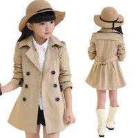 Coat Autumn Outerwear Girls Trench Coats Double Breasted Clothing Tops Kids Windbreaker 4-12 Jackets Clothes