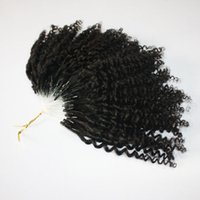 100% cabelo humano feito micro anel loop malaysian remy hairs extensões 100 fios por pacote