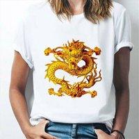 Mighty Dragon Gedruckt Sommer Frauen T-shirts Harajuku T-Stück-Nacken-kurzärmlige Mode