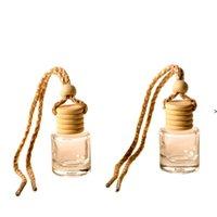 Car perfume bottle car pendant perfume ornament air freshener for essential oils diffuser fragrance empty glass bottle one BWA6218