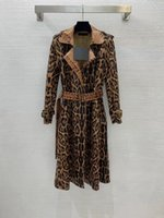 2021 Autumn Winter Women's Trench Coats Runway Jackets Lapel Neck Long Sleeve Brand Same Style Designer Outerwear 1019-7