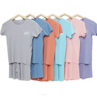 Children Summer Sets 2021 New Short Mouw T-shirt Shorts Pajamas for Girls Clothing Casual Breien Homewear Boys Set