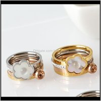 Cluster Jewelryfashion Shell Charms Cz Beads Wedding Party Women Men Classic Crystal Hollow Gothic Rings Bague Femme1 Drop Delivery 2021 Gzr