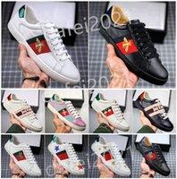 망 이탈리아 꿀벌 신발 여성 야외 캐주얼 흰색 신발 녹색 빨간색 스트라이프 수 놓은 호랑이 뱀 커플 트레이너 chaussures