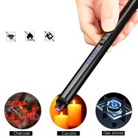 Flameless Candle Lighter USB Rechargeable Plasma Electric Arc Lighter with Safety Switch for Home Kitchen Cooking Camping Holiday Fireworks
