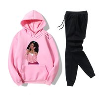 Two piece hooded sweater set for girls