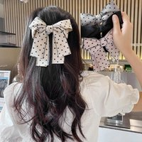Hair Clips & Barrettes Big Bow Ties Two Layer Butterfly Polk Dots Hairpins Girls Bowknot Hairgrip Holder Headdress Accessories