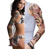 Autoadesivo del tatuaggio temporaneo del braccio del braccio variopinto del tatuaggio del tatuaggio del tatto impermeabile del tatto impermeabile dell'arte dell'arte del corpo del grande corpo impermeabile TQB