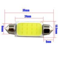 High Power COB LED 36mm Festoon 211-2 578 212-2 Bulb Interior Dome Map Light 8W