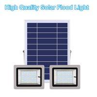 Solar Lamps Double Head Lights 36LEDs 63LEDs 80LEDs 100LEDs Led Floodlight Waterproof IP65 Outdoor Garden Street Light In Stock