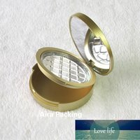 Packing Bottles 20pcs lot 59mm Empty Double-layer Cosmetic Powder Sub Case with Mirror,Gold Round Plastic Eyeshadow Compacts,Elegant Blusher Box